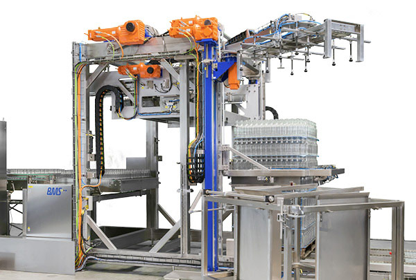 BMS UNIPAL 202 – New glass sweep-off depalletiser for the small and medium performance range